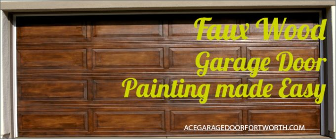 Faux Wood Garage Door Painting Made Easy